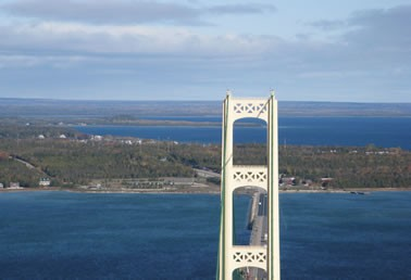 Bridge - St. Ignace from the Tower 10-21-08 046